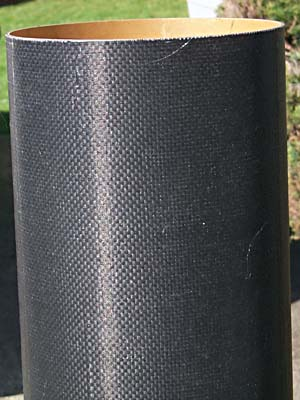 close-up of carbon-covered tube